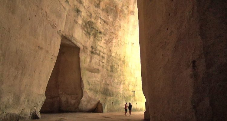 the cave - ear of dionysius in Syracuse