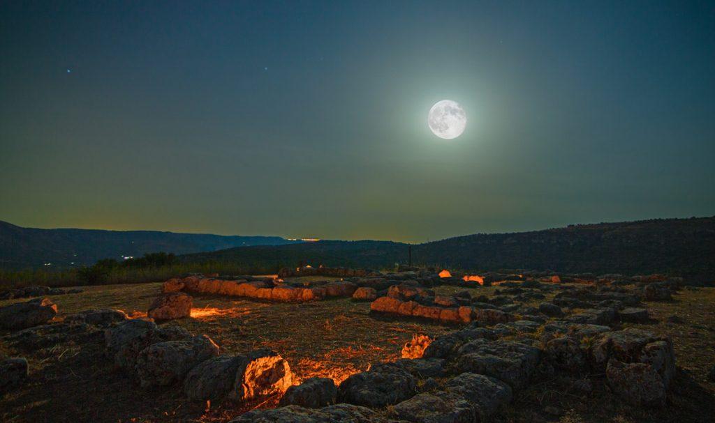 night view of Anaktoron