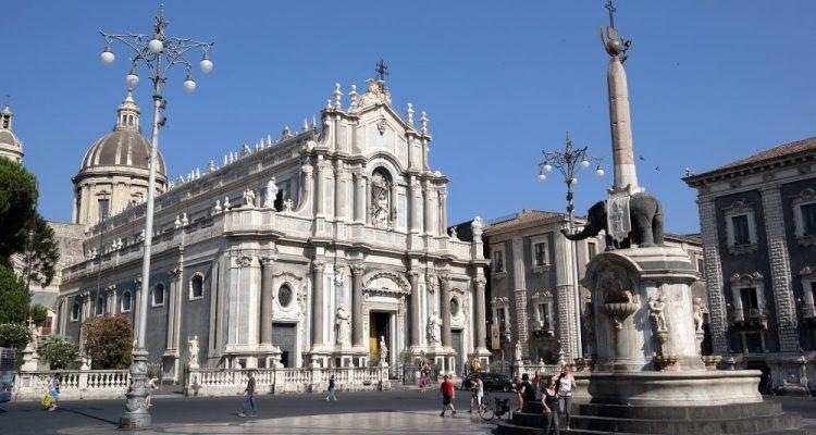 Catania Cathedral dominating the principal square of Catania