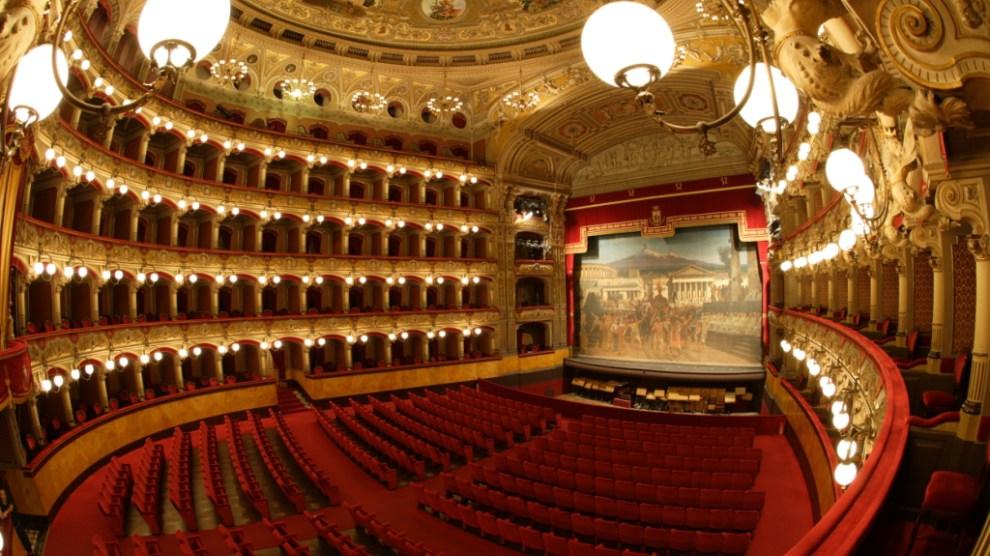 The inside of Teatro Massimo Vincenzo Bellini